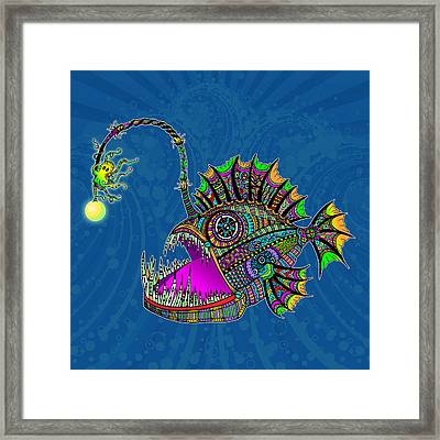Electric Angler Fish Framed Print by Tammy Wetzel