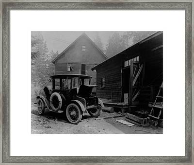 Electric Auto At Re-charging Station Framed Print