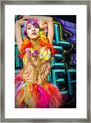 Electric Ballerina Framed Print