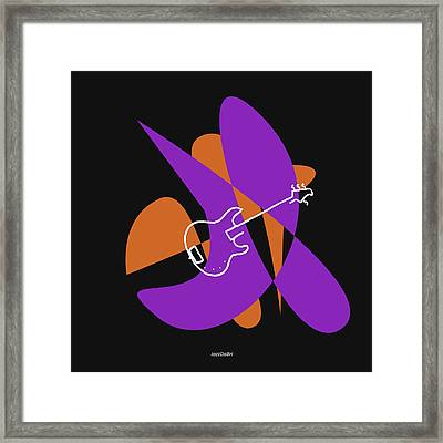 Electric Bass In Purple Framed Print