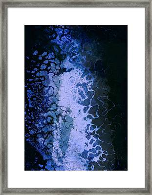 Electric Blue Frisson Framed Print by Maynard Ellis