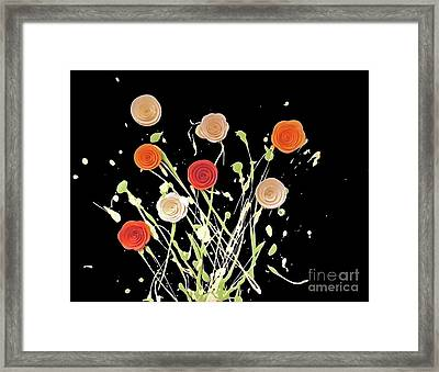 Electric Bouquet Framed Print