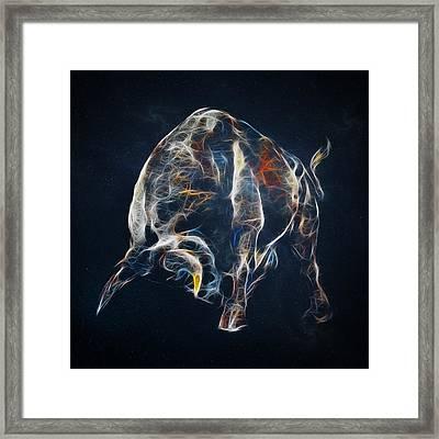 Electric Bull Framed Print