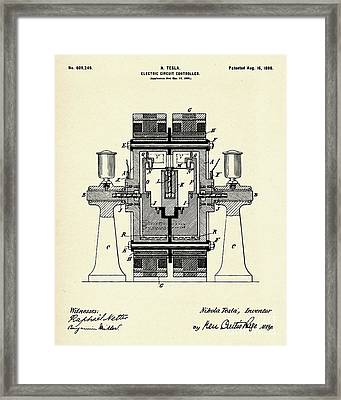 Electric Circuit Controller-1898 Framed Print