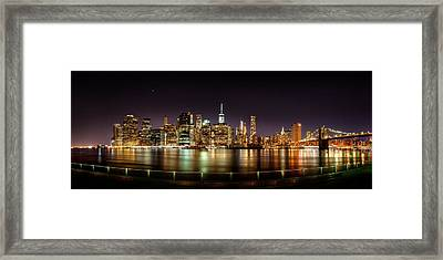 Electric City Framed Print by Az Jackson