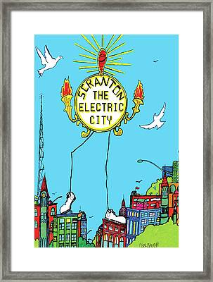 Electric City  Framed Print