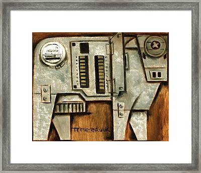 Electric Cow Art Print Framed Print by Tommervik