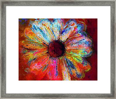 Electric Daisy Framed Print by Julie Lueders