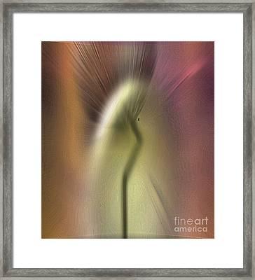 Electric Dandelion Framed Print