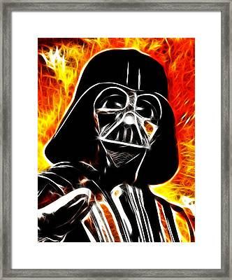 Electric Darth Vader Framed Print by Paul Van Scott