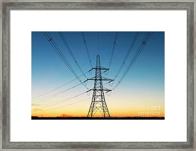 Electric Dawn Framed Print by Tim Gainey