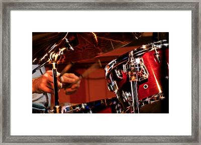 Framed Print featuring the photograph Electric Drums by Cameron Wood