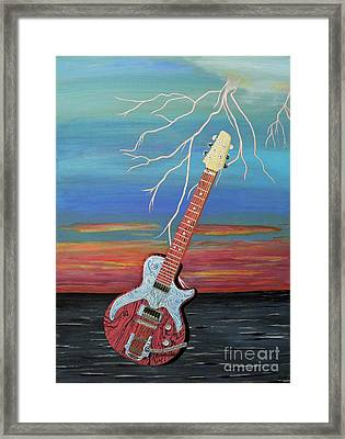 Framed Print featuring the painting Electric by Eric Kempson