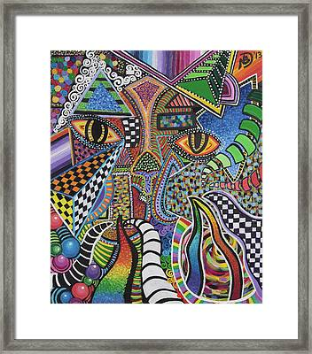 Electric Eyes Framed Print