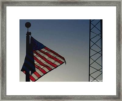 Electric Flag Framed Print