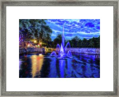Electric Fountain  Framed Print by Scott Carruthers