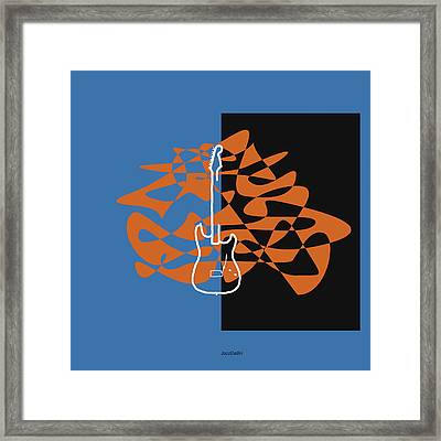 Electric Guitar In Blue Framed Print