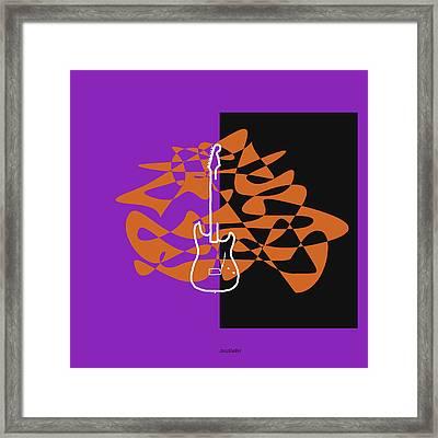 Electric Guitar In Purple Framed Print by Jazz DaBri