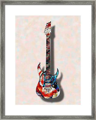 Electric Guitar - Psychobilly - Musical Instruments Framed Print