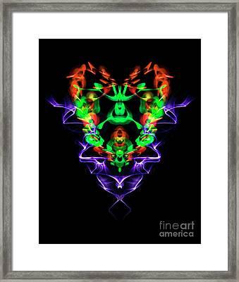 Electric Heart Framed Print