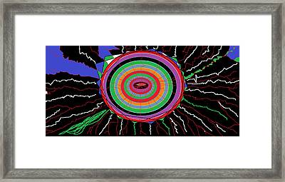 Electric Hole Framed Print by Sam Persons