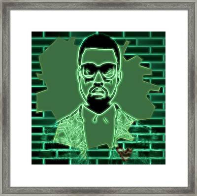 Electric Kanye West Graphic Framed Print