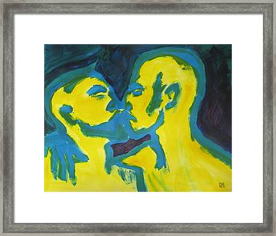 Electric Kiss Framed Print