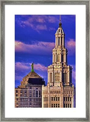 Electric Liberty Framed Print