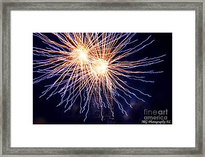Electric Lights Framed Print