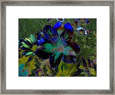 Framed Print featuring the photograph Electric Lily by Greg Patzer