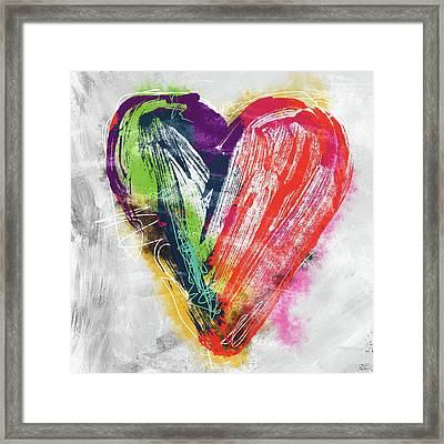 Electric Love- Expressionist Art By Linda Woods Framed Print