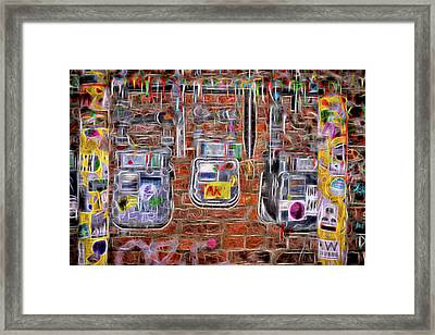 Framed Print featuring the photograph Electric Meters by Spencer McDonald