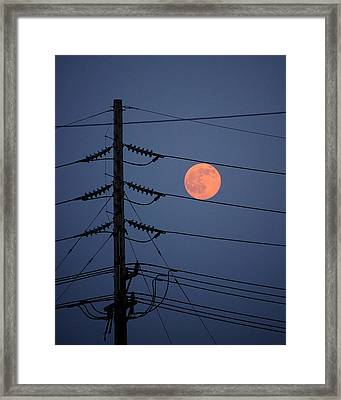 Electric Moon Framed Print