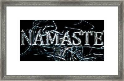 Electric Namaste Framed Print by Dan Sproul