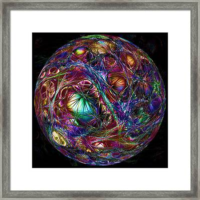 Electric Neon Abstract Framed Print