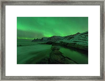 Framed Print featuring the photograph Electric Night by Alex Lapidus