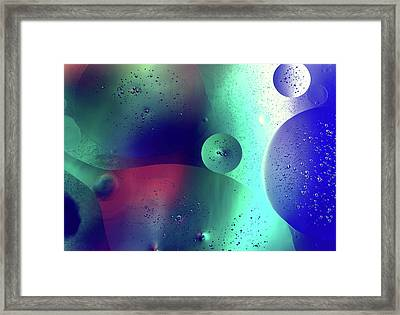 Framed Print featuring the photograph Electric Oil Droplets Number One by John Williams