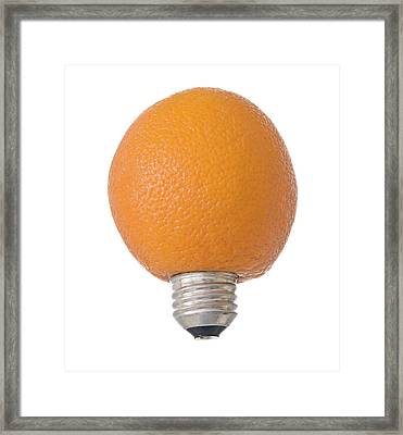 Electric Orange Framed Print