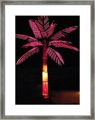 Electric Palm Framed Print by Florene Welebny