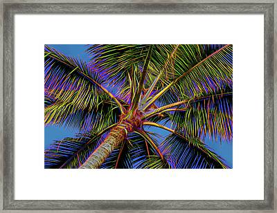 Electric Palm Framed Print by Kelley King