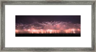 Electric Panoramic Framed Print