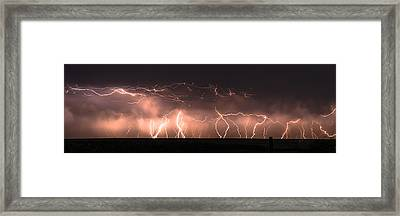 Electric Panoramic Iv Framed Print