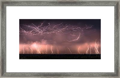 Electric Panoramic V Framed Print