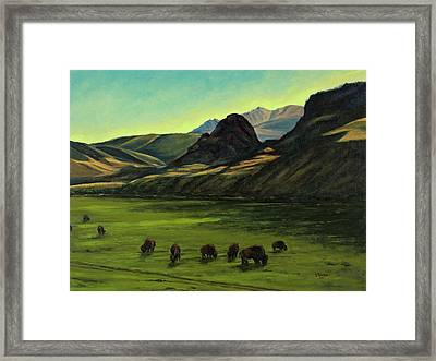 Electric Peak From Slip And Slide Ranch Framed Print