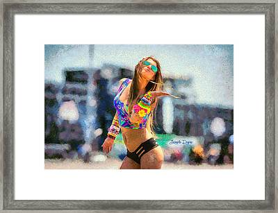 Electric People Framed Print