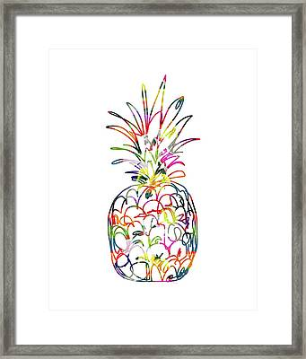 Electric Pineapple - Art By Linda Woods Framed Print