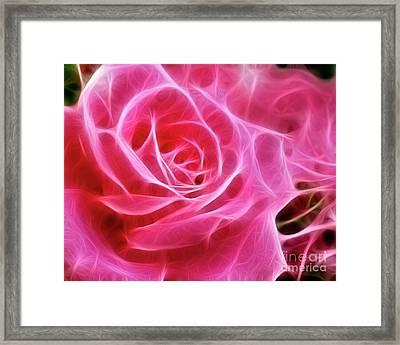 Electric Pink Framed Print