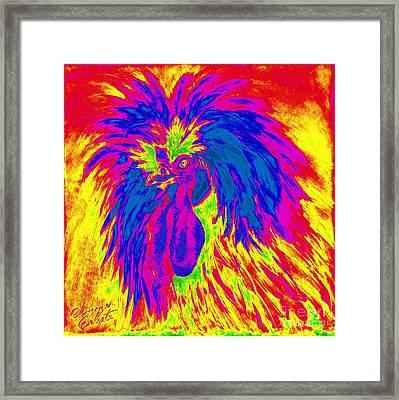 Electric Polish Hen Framed Print by Summer Celeste