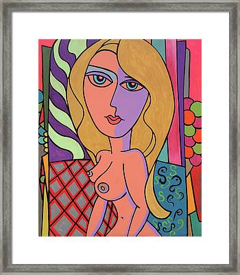 Electric Pop Girl Limited Edition Print Framed Print by Robert R Splashy Art Abstract Paintings