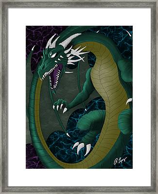 Electric Portal Dragon Framed Print